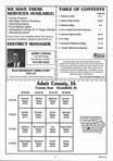Table of Contents, Adair County 2001